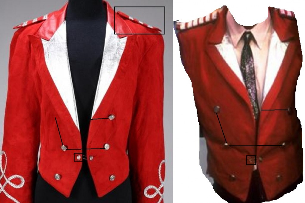 MICHAEL JACKSON RED SUEDE JACKET5