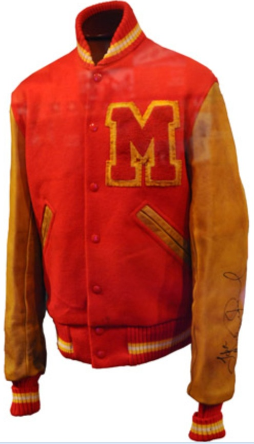aged Letterman jacket
