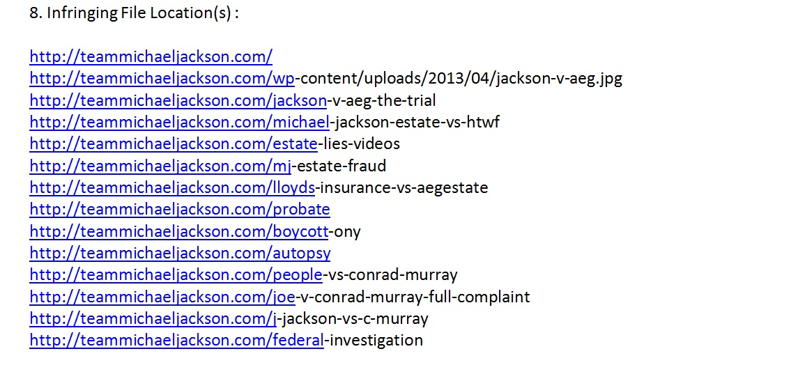 PROOFJohn Branca claimed copyrights on COURT DOCUMENT/EXHIBITS/TRANSCRIPTS